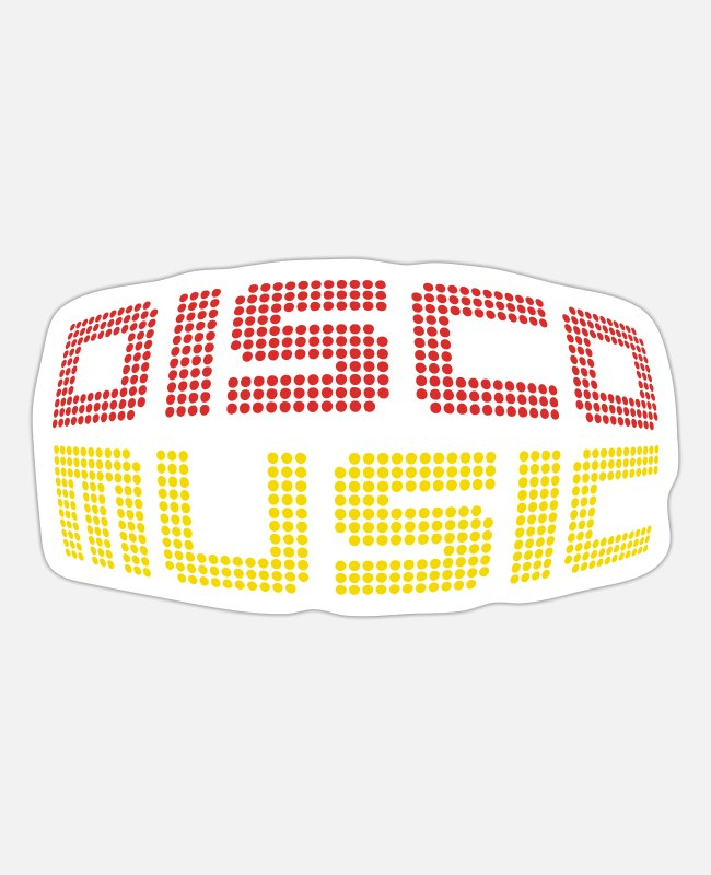 Turn Table Stickers - Disco Music - Sticker white mat