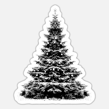 Impression Photo Realiste De Sapin De Noel Noir Et Blanc Tapis De Souris Spreadshirt