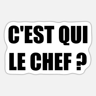 C Est Qui Le Chef Humour Drole Blague Mug Spreadshirt