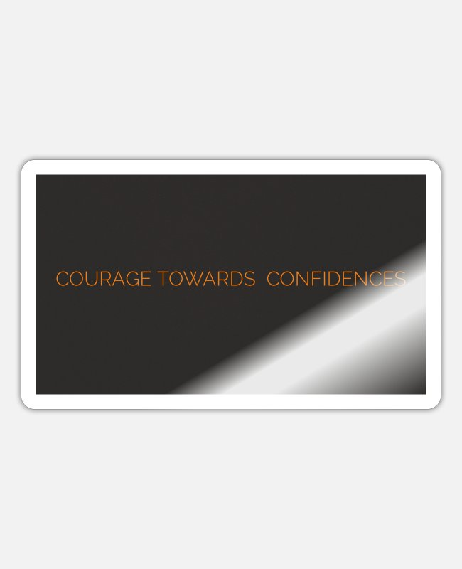 Workhorse Stickers - courage - Sticker white glossy