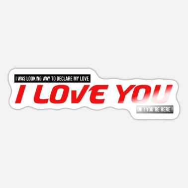 I was looking for how to tell you I love you couple - Sticker