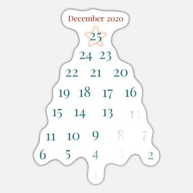 Advent Advent kalender - Sticker