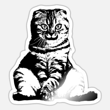 Grinning Cat SMILING CAT Funny grinning cat - Sticker