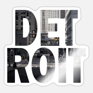 Motor City Detroit Michigan Cityscape - Sticker