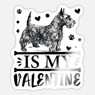 Eenhoorn Terrier is My Valentine - Sticker