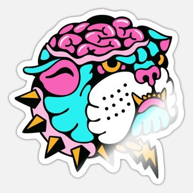 Geek Brain Lion - Sticker