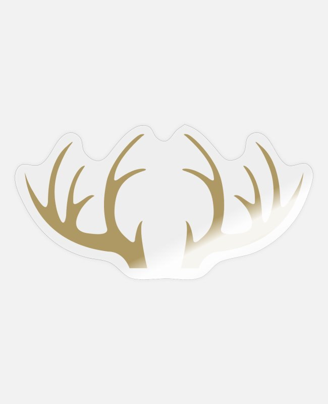 Stag Stickers - Outdoor · Wild · Deer · Antlers - Sticker transparent glossy