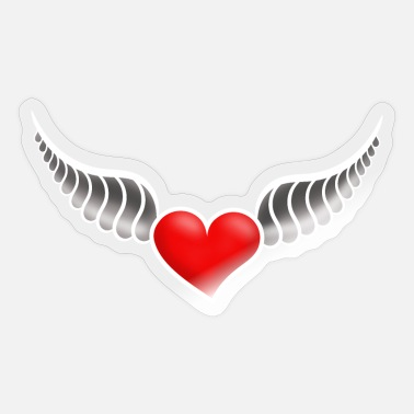 Heart With Wings Heart with wings 3D - Sticker