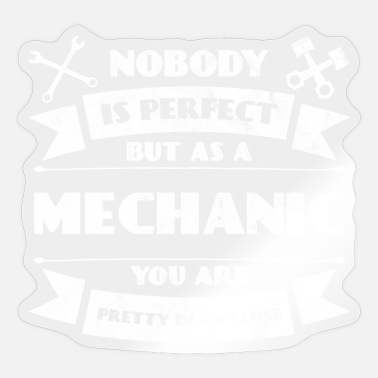 Perfect mechanic - car engine cylinder tuning - Sticker
