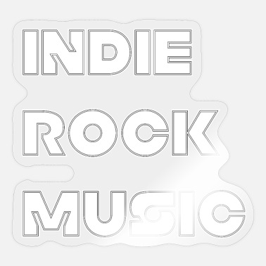 Indie INDIE ROCK MUSIC - Sticker