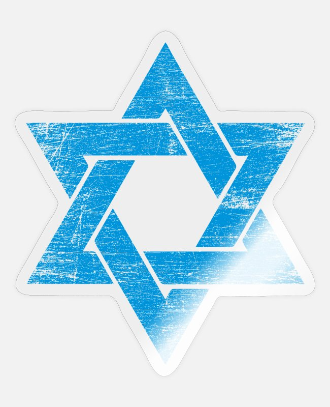 Gaza Strip Stickers - Israel star jew religion star of david gift - Sticker transparent glossy