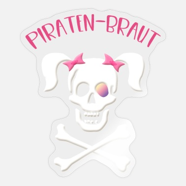 Piraten bitch, Piratenbraut, Pirat - Sticker