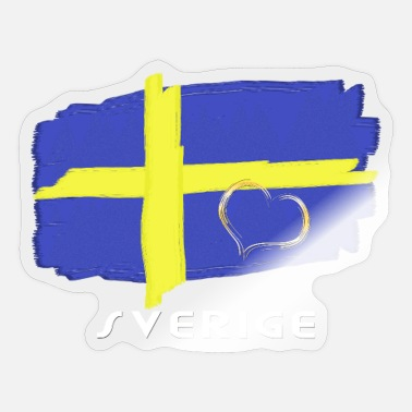 Swedish Girlfriend Sweden flag flag with heart font - Sticker
