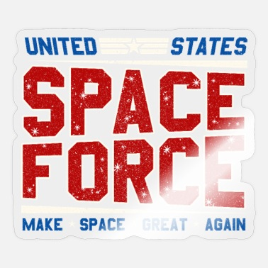 Space Force United States Space Force -Make Space Great Again - Sticker
