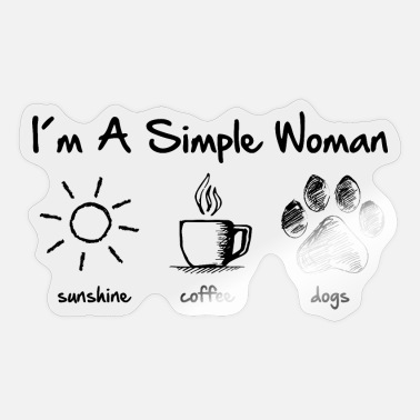 Simple simple woman dog - Sticker