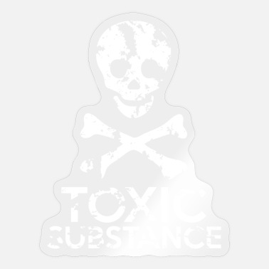 Grungy Grungy Warning Sign – Toxic Substance - Sticker