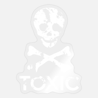 Grungy Grungy Warning Sign – Toxic - Sticker