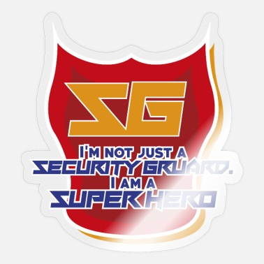 Security Guard Security - Security - Guard - Guard - Sticker