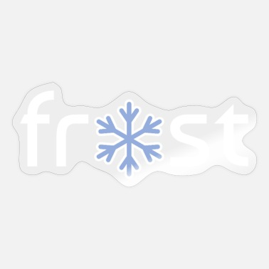 Frost Winter frost ijskristal - Sticker