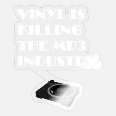 Mp3 Vinyl Is Killing The MP3 Industry - Sticker