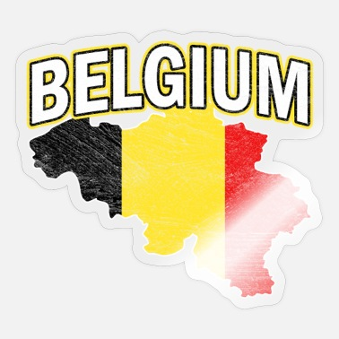 Nationality Belgium Nation Nationality - Sticker