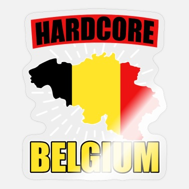 Nationality Belgium nationality national colors - Sticker