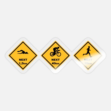Roadsign Triathlon olyp. Distanz australien Roadsign - Sticker