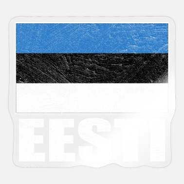 Nationality Estonia Nationality Flag Nation National Colors - Sticker
