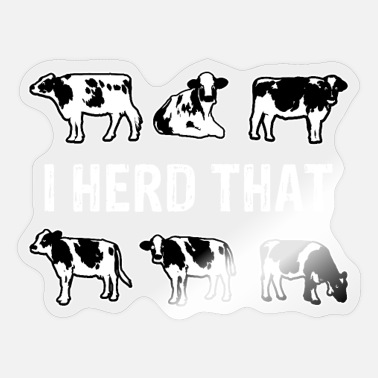Cowshed Cow farmer cowshed - Sticker