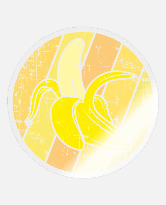 Bless You Stickers - Banana fruit - Sticker transparent glossy