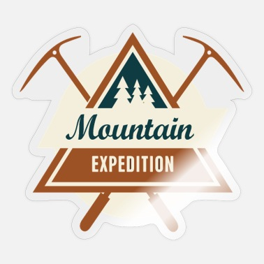 Mountain Sports Mountains mountaineering mountain sports - Sticker
