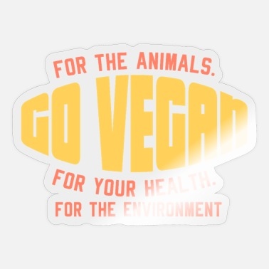 Go-vegan VEGAN: Go vegan - Sticker