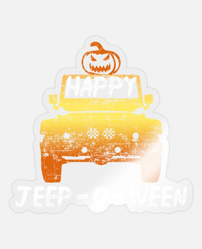 Proud Stickers - Happy Jeep O ween - Sticker transparent glossy