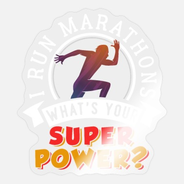 Super Power Running Marathons Super Power - Sticker
