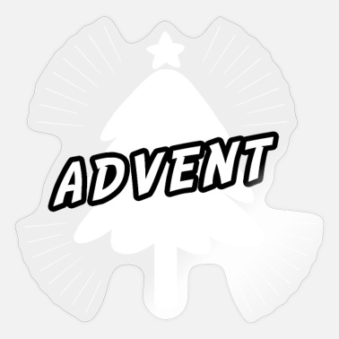 Advent Advent met kerstboom - Advent-kerstboom - Sticker