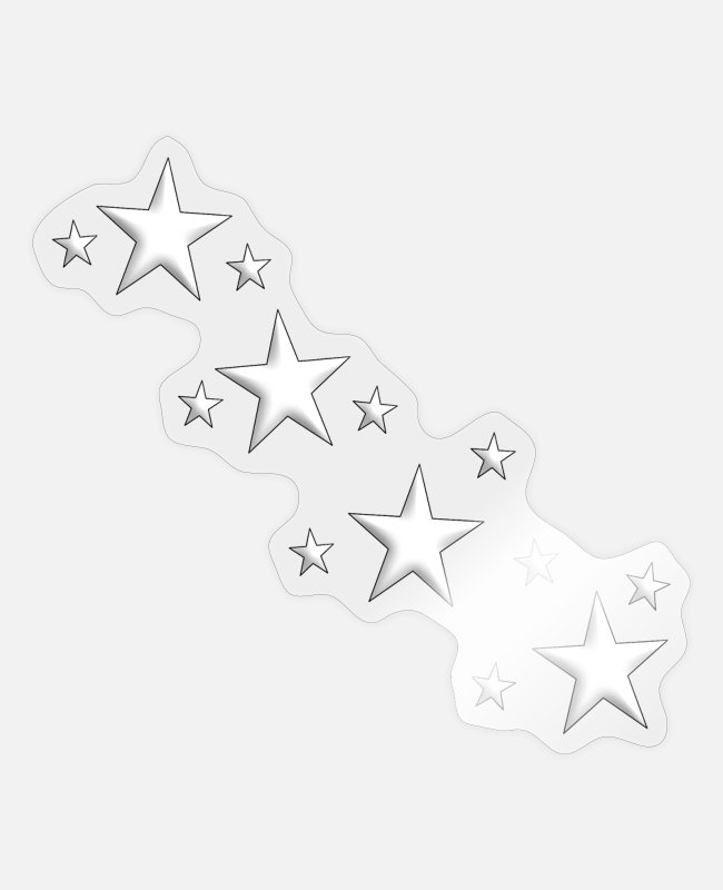 Hipster Stickers - star - Autocollant brillant transparent