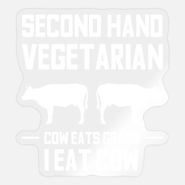 Funny saying Carnivore steak anti vegan - Sticker