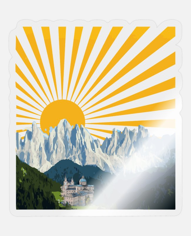 Mountains Stickers - Salzburg mountains Austria Austria Alps - Sticker transparent glossy