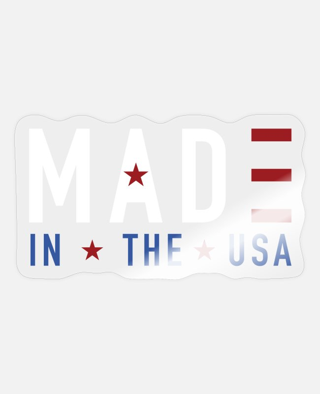Usa Stickers - America - Sticker transparent glossy
