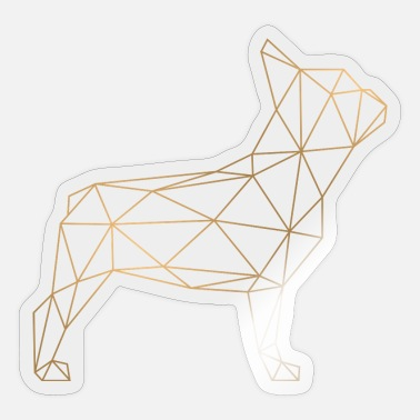 Bulldog Geometric French Bulldog - gold - Sticker