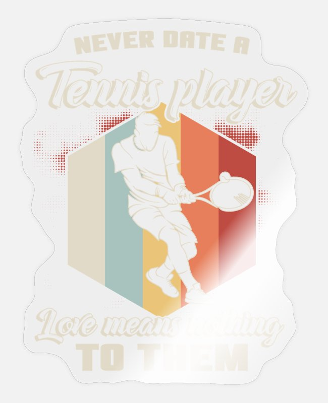 Ball Stickers - tennis - Sticker transparent glossy