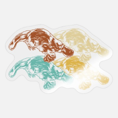 Snavel Platypus snavel - Sticker