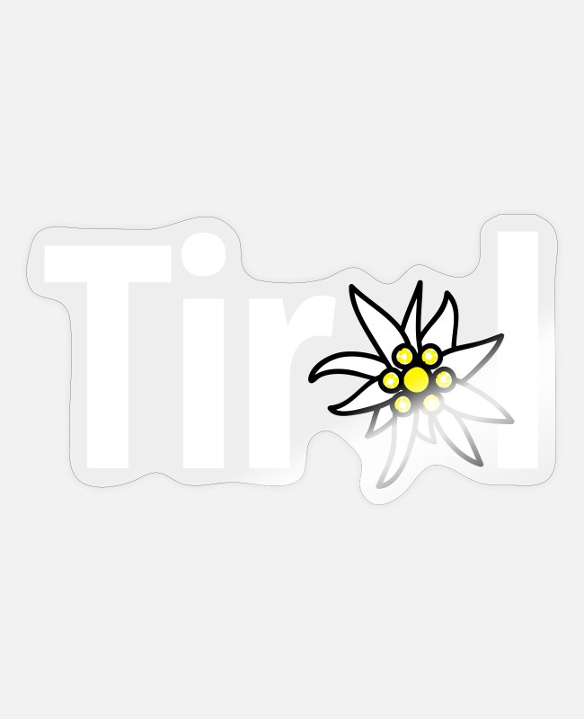Edelweiss Stickers - Tirol - Sticker transparent glossy