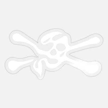 Skull with bones - Sticker