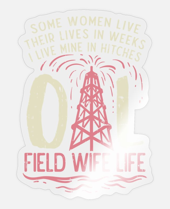 Frogfish Stickers - Wife oil rig worker oil rig gift idea - Sticker transparent glossy