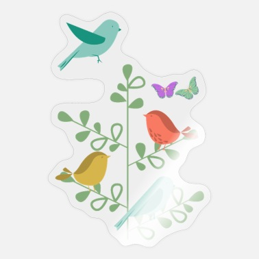 Nature design with birds and butterflies - Sticker