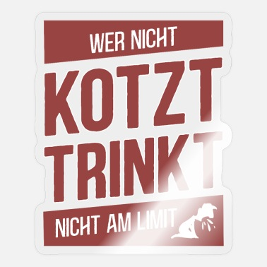 Who does not puke Do not drink at the limit - Malle - Sticker