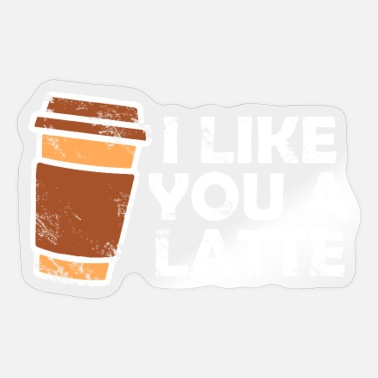 Latte latte macchiato - Sticker