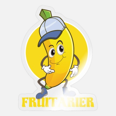 Fruit Fan Fruitarian Banana Funny t-shirt for fruits fan - Sticker