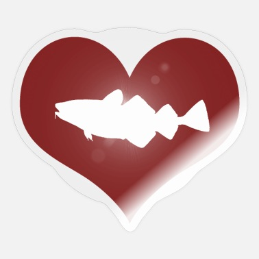Cod Heart cod - cod fishing - Sticker